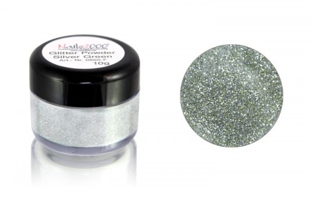 Glitter Powder Silver Green