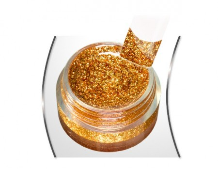 Gold glam glitter gel King