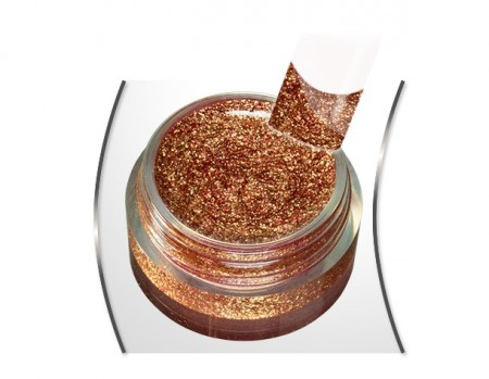 Gold glam glitter gel Queen